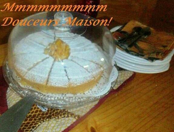 gâteau aux pêches jaunes