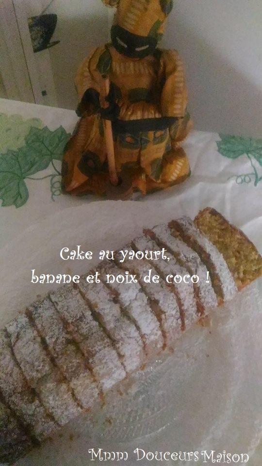cake au yaourt banane et noix de coco 2
