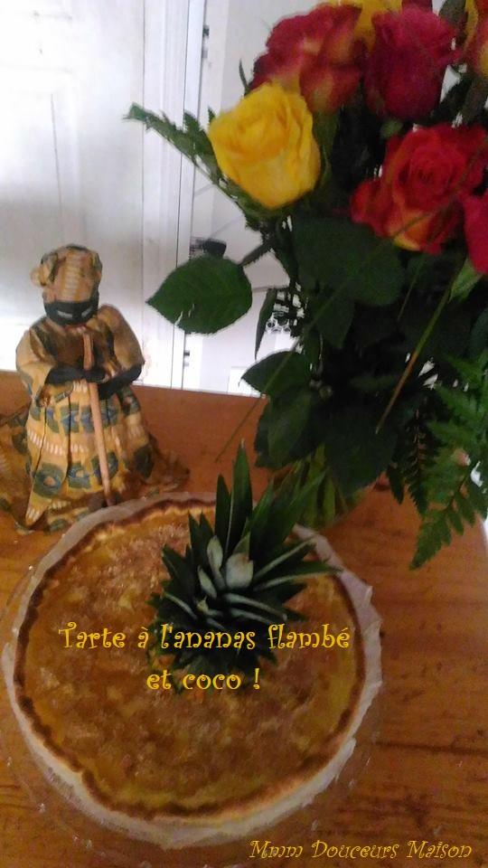 tarte à l'ananas flambé et à la noix de coco 2