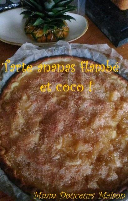 tarte à l'ananas flambé et à la noix de coco 3