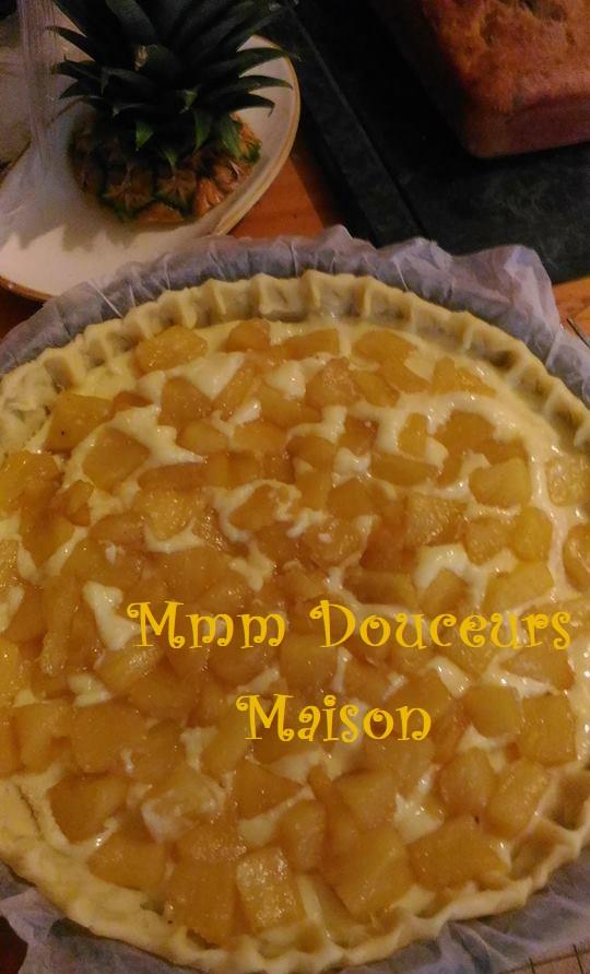 tarte à l'ananas flambé et à la noix de coco 5