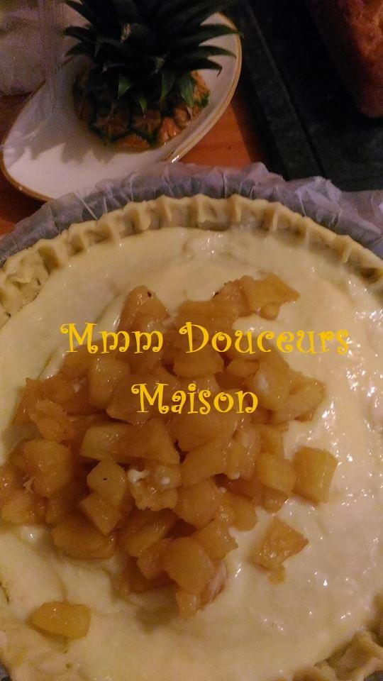 tarte à l'ananas flambé et à la noix de coco 6