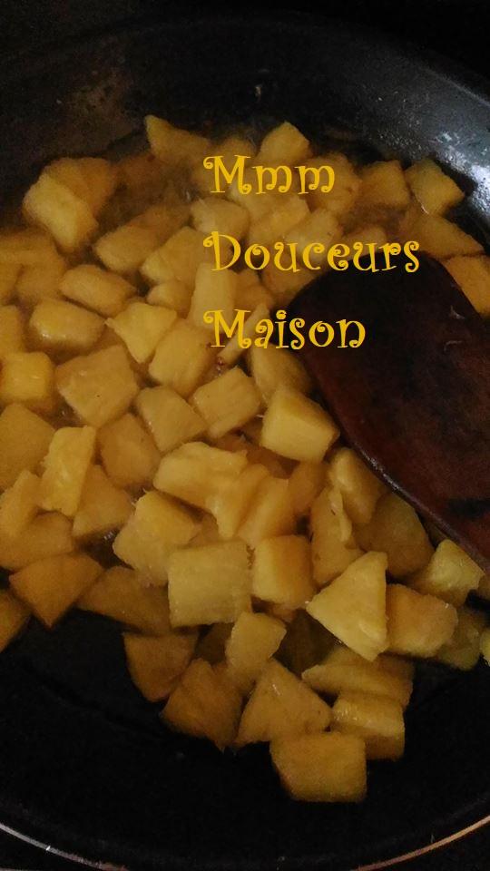 tarte à l'ananas flambé et à la noix de coco 7