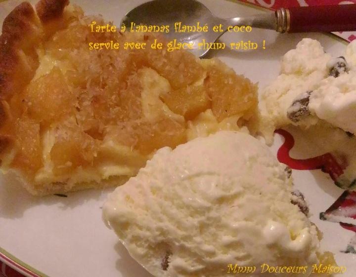 tarte à l'anans flambé et coco