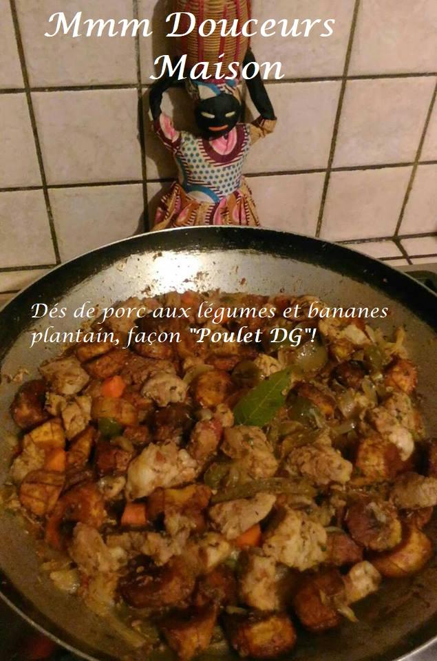 dés de porc aux légumes et bananes plantain façon poulet DG 1 - Copie