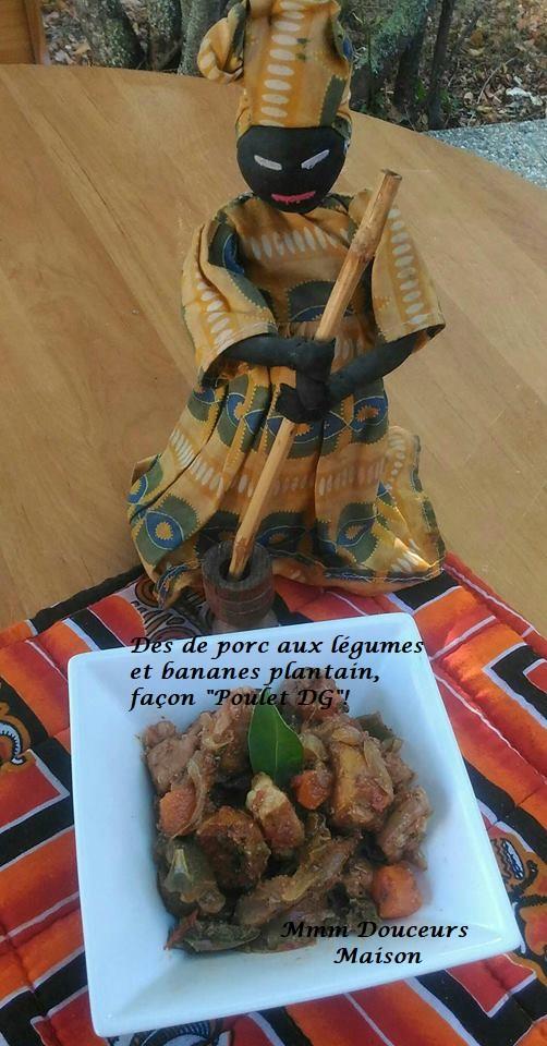 dés de porc aux légumes et bananes plantain façon poulet DG 2