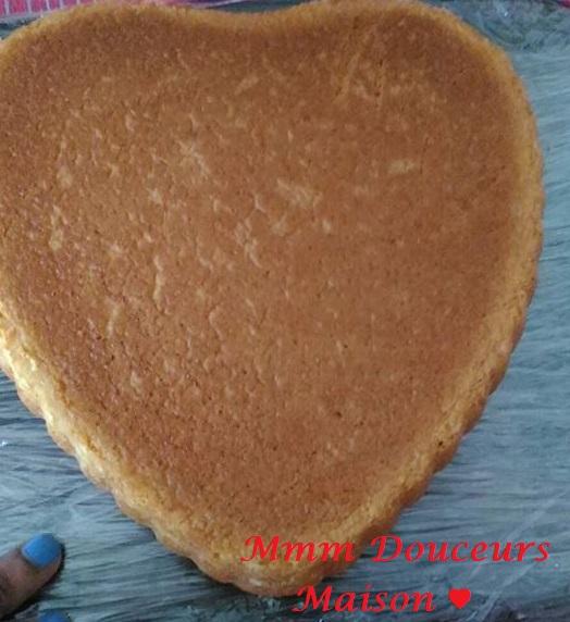 Gâteaux coeur aux fraises 5