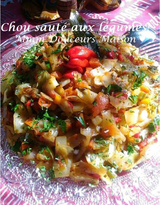 Chou sauté aux légumes 10