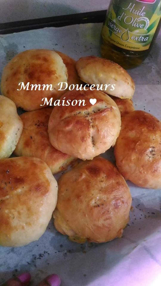 petits pains sans pétrissage à l'huile d'olive 2
