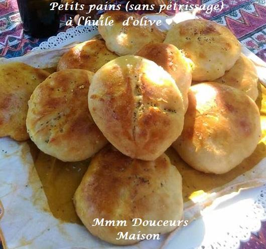 petits pains sans pétrissage à l'huile d'olive 3