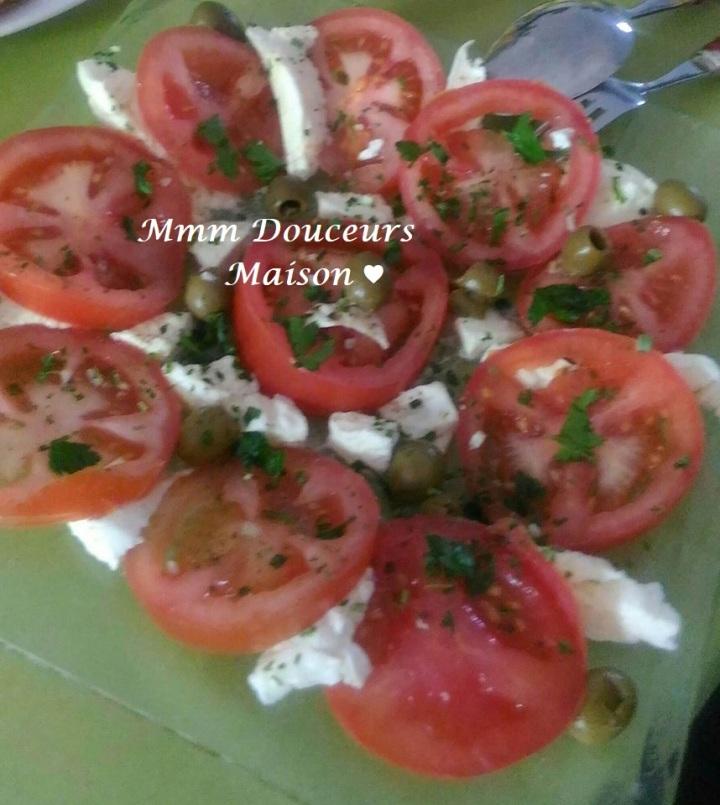 salde de tomates et mozzarella